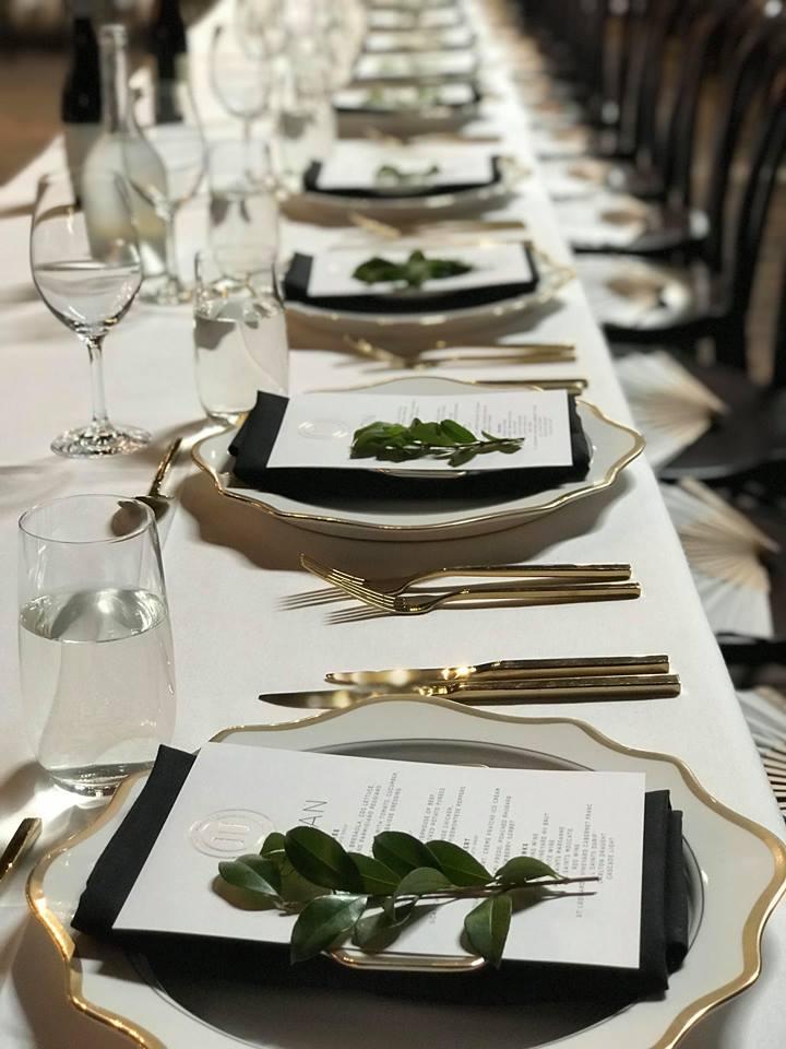 Table set up at All Saints Estate